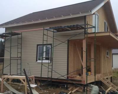 Строительство дома из СИП панелей по индивидуальному проекту в КП «Коркинский ручей»