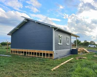 Строительство дома из СИП панелей в д. Кингисепп