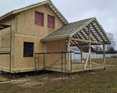 Строительство дома из СИП панелей в д. Ранилово