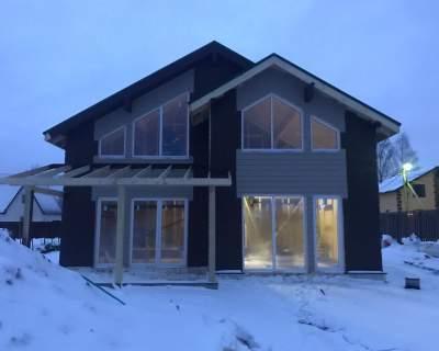 Строительство дома из СИП панелей в ДНП Луговое