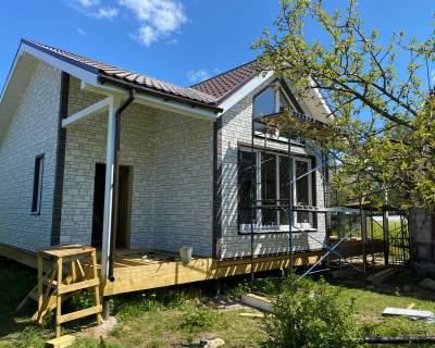 Строительство дома из СИП панелей в п. Сиверский Ленинградской области