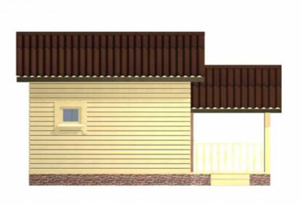 Проект Бани из СИП панелей 6х6