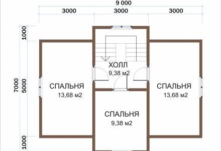 Каркасный дом 7х9