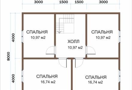 Каркасный дом 9х11