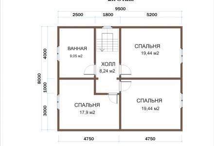 Каркасный дом 8х12