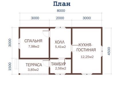 Дачный дом 8 х 4,5