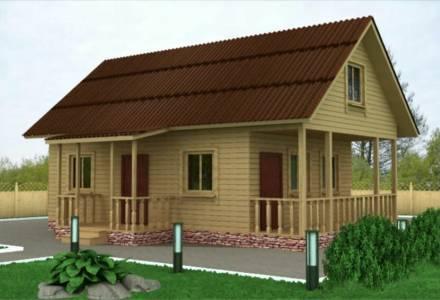 Дачный дом 6х9,5 с крыльцом