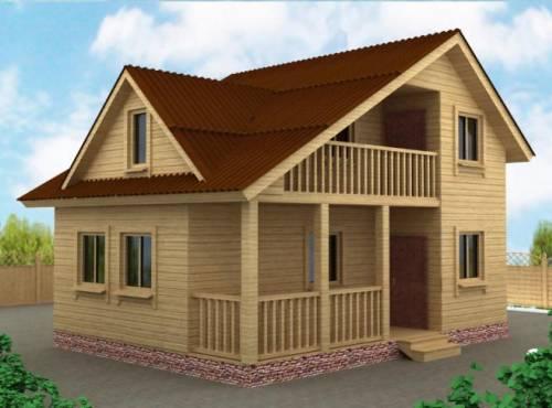 Дачный дом 6х8 с террасой