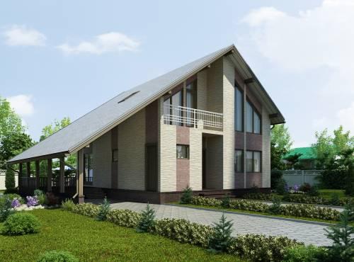 Проект дома из СИП панелей АЛЬФА