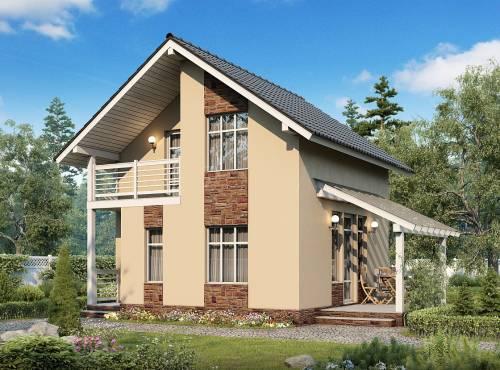 Проект дома из СИП панелей РЕАЛ