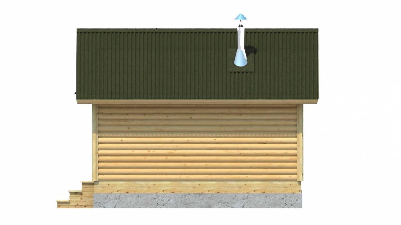 Проект Бани из бруса 5х5