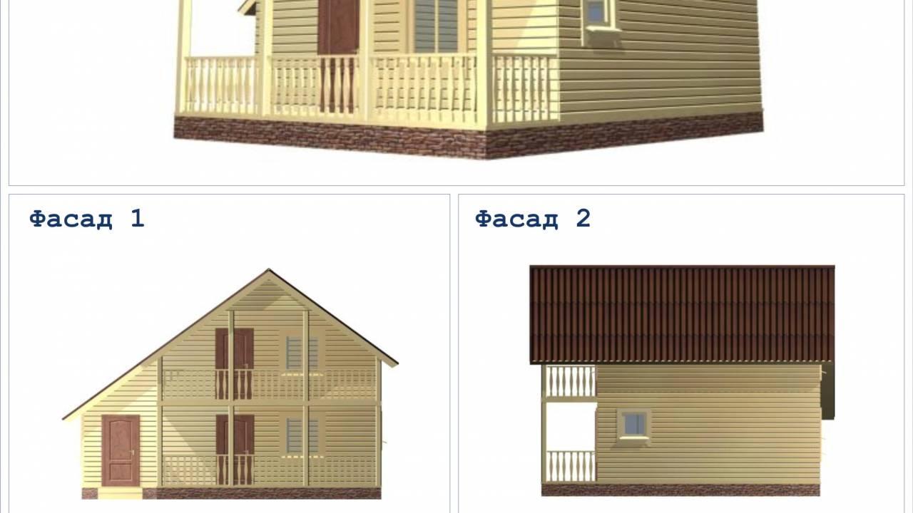 Проект Бани из бруса 7,5х8  с террасой