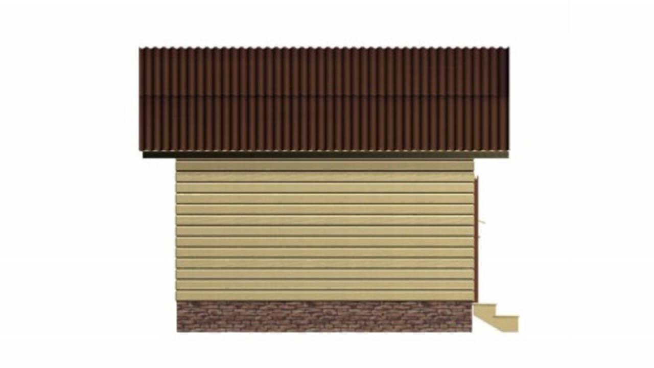 Проект Бани из СИП панелей 3х4,5