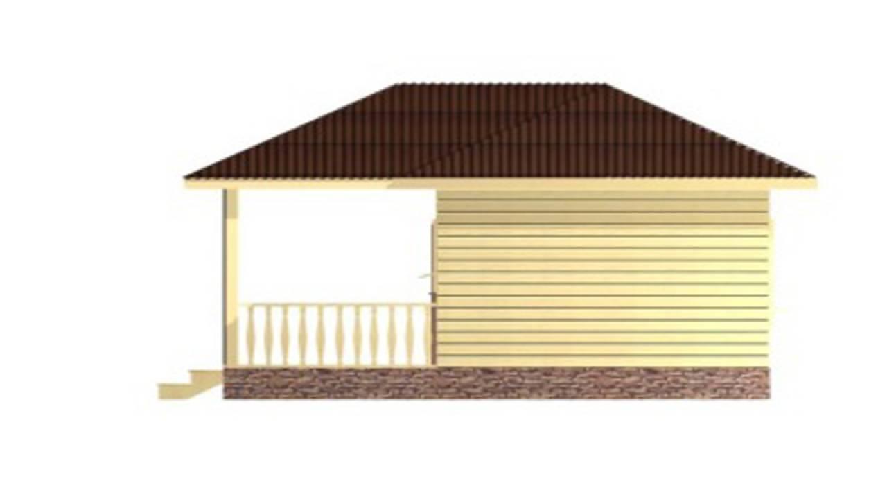 Проект Бани из СИП панелей 6х8
