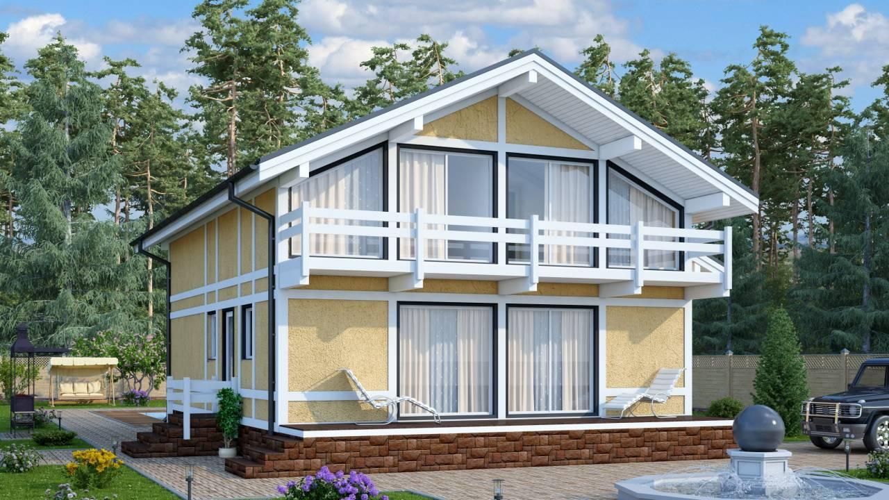 Проект каркасного дома БАРОН
