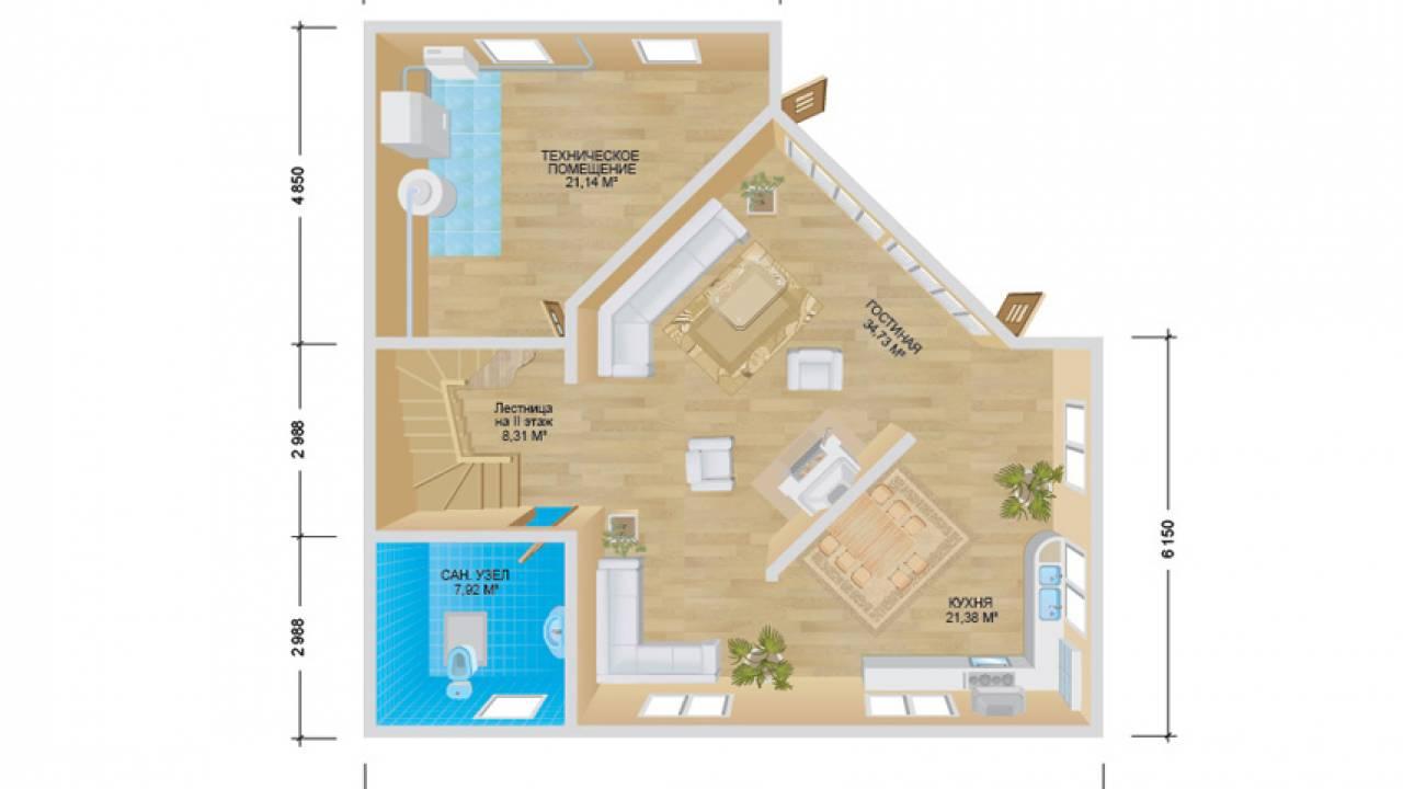 Проект каркасного дома ТАУН