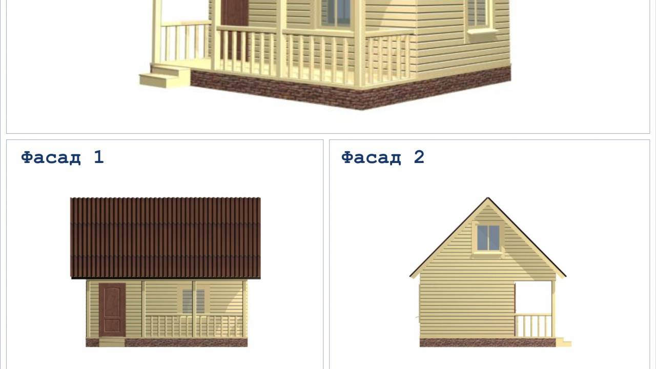 Дачный дом 6х5 с террасой