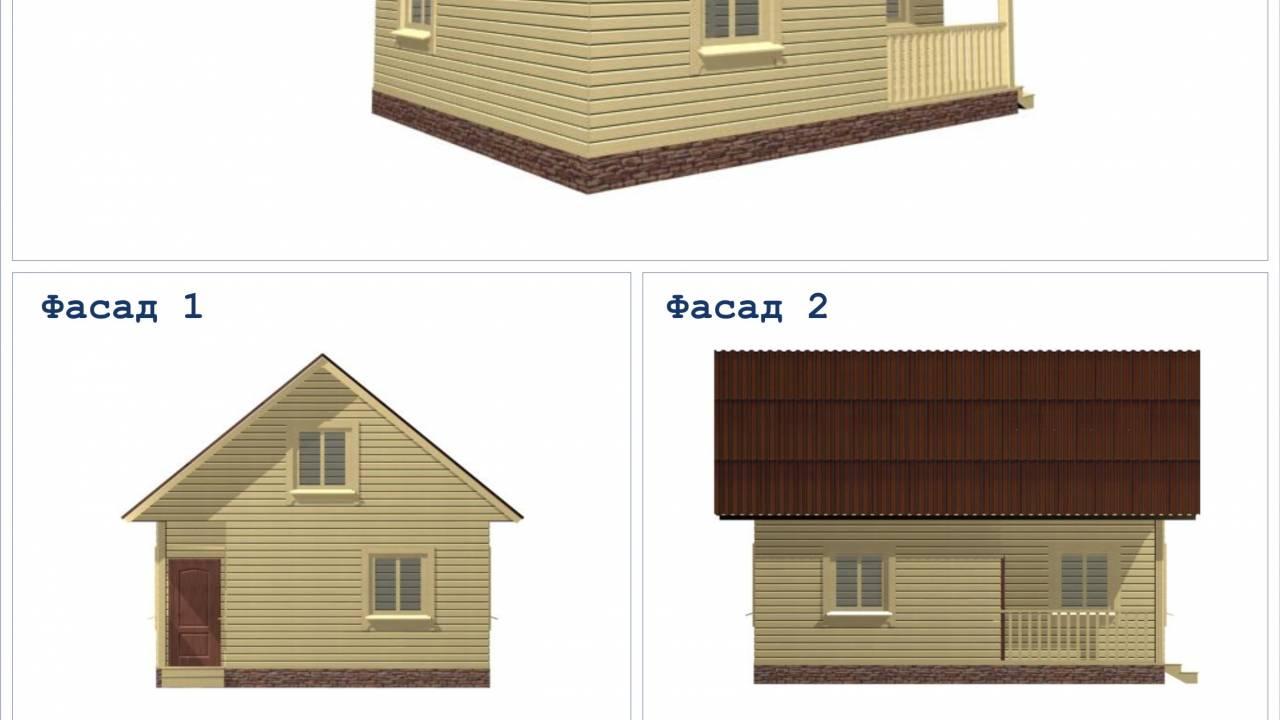 Проект каркасного дома 7,5х6