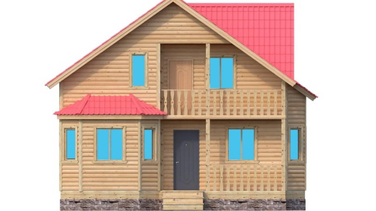 Проект каркасного дома 8 х 9.2