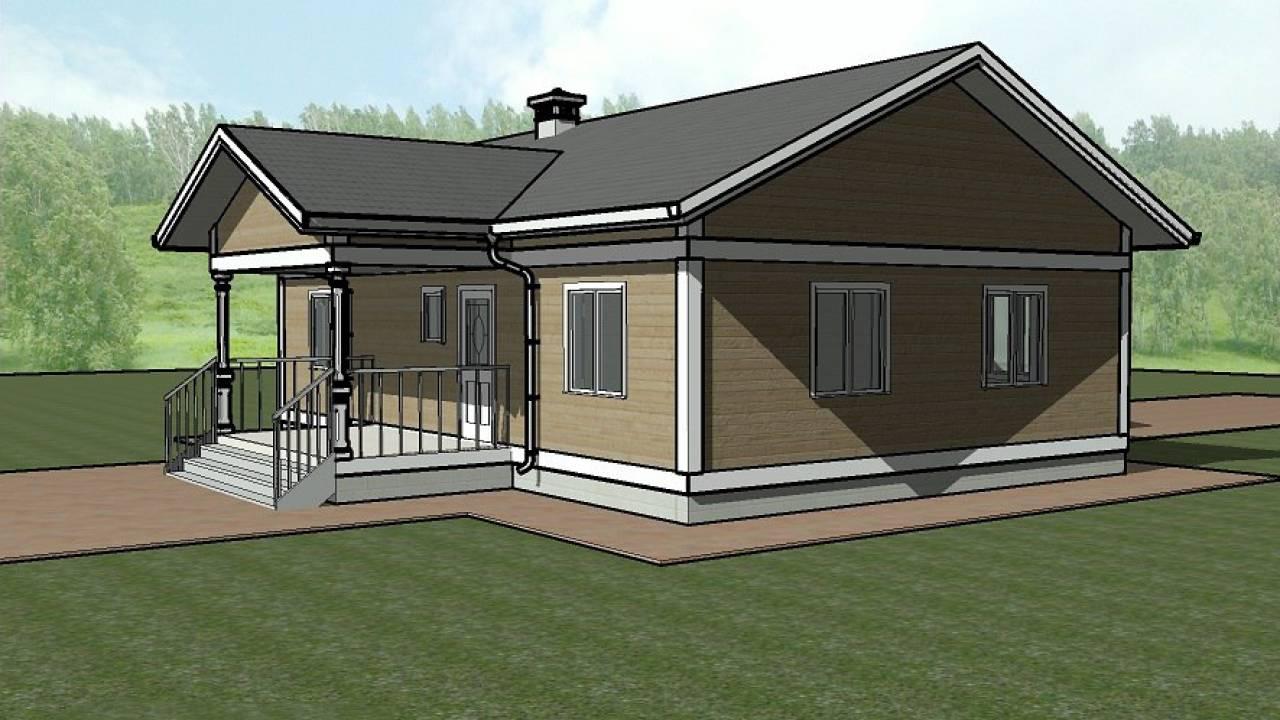 Проект каркасного дома 8х12