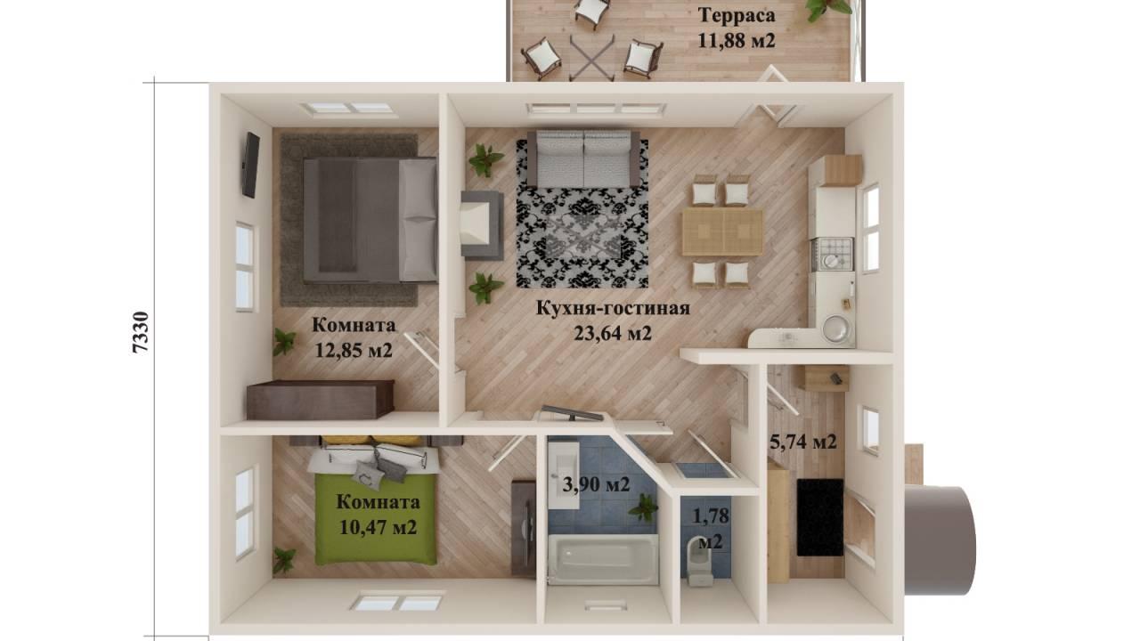 Проект каркасного дома ВЫБОРГ