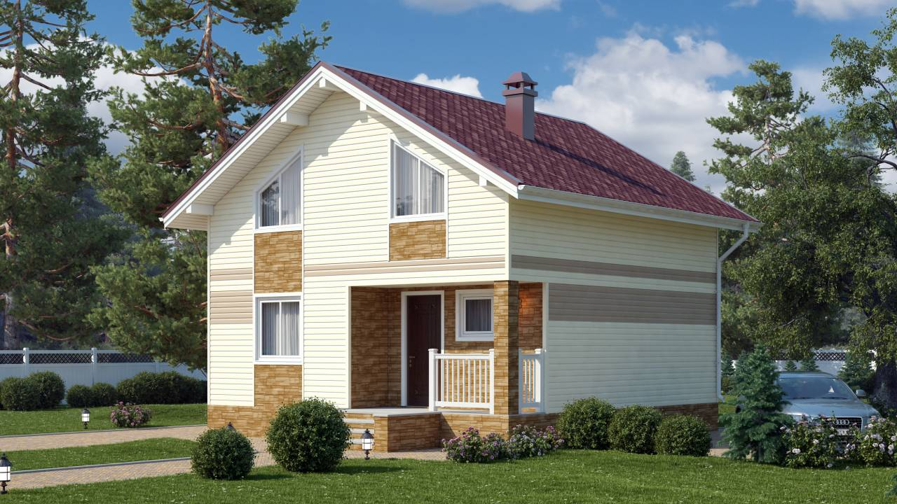 Проект дома из СИП панелей НИКОЛЬ