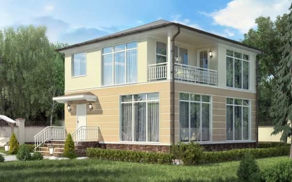 Проект дома из СИП панелей КВАДРО