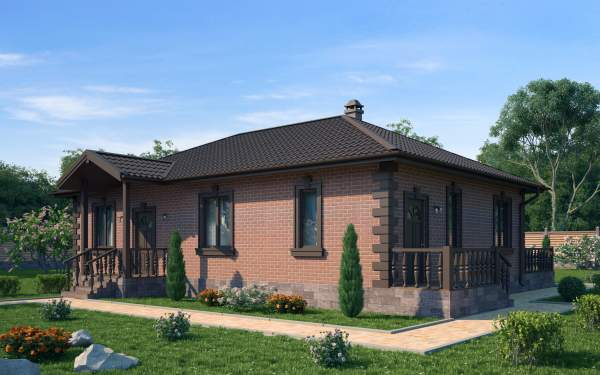 Проект дома из СИП панелей БРАТСК