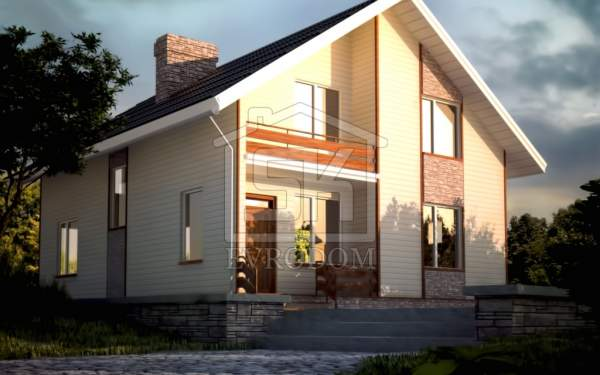 Проект дома из СИП панелей КЛАССИКА