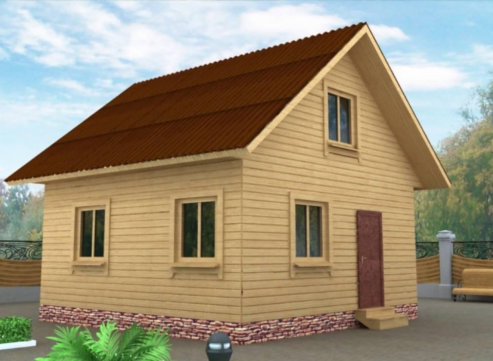 Дачный дом 6х6
