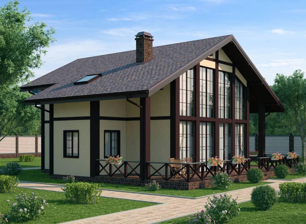 Проект каркасного дома ЭДЕЛЬВЕЙС
