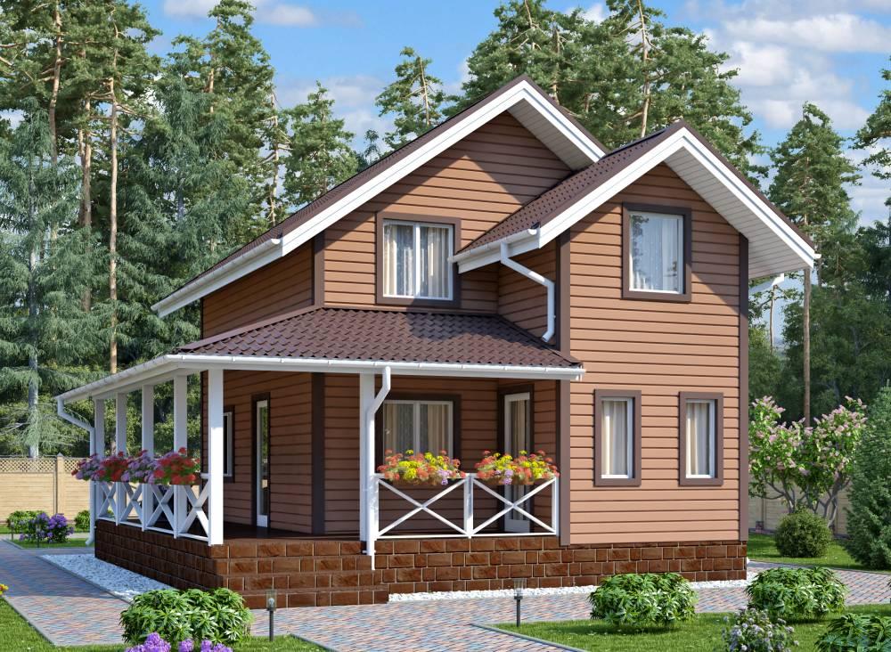 Проект каркасного дома КИСКЕЛОВО