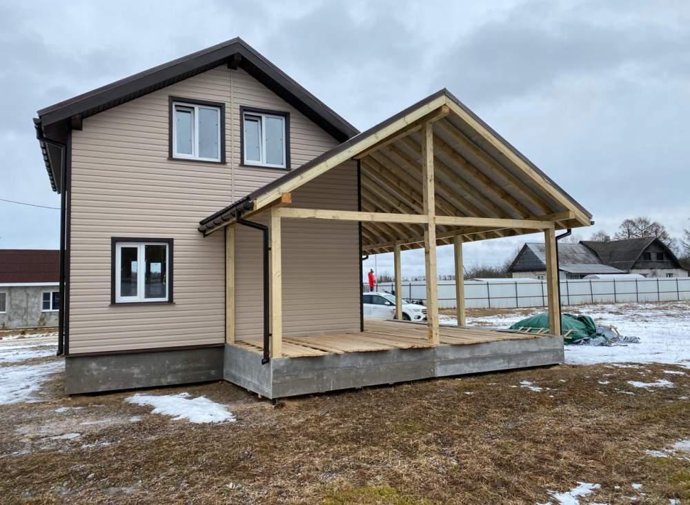 Строительство дома из СИП панелей по индивидуальному проекту в д. Ранилово