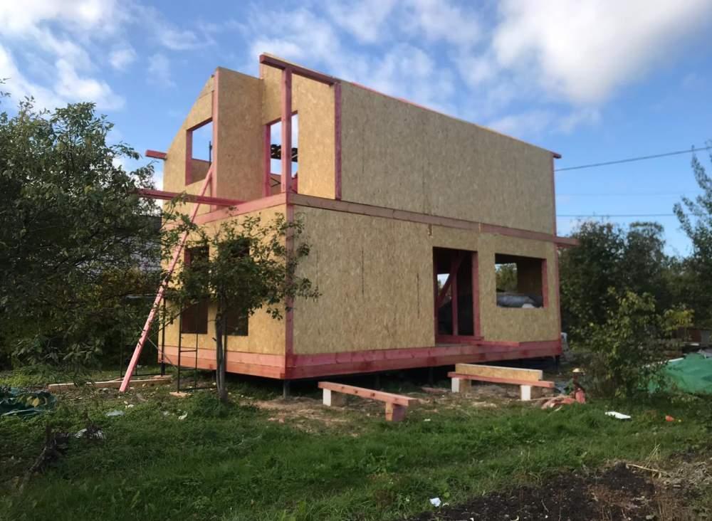 Строительство дома из СИП панелей по индивидуальному проекту в СНТ «Дачное» Ленинградской области