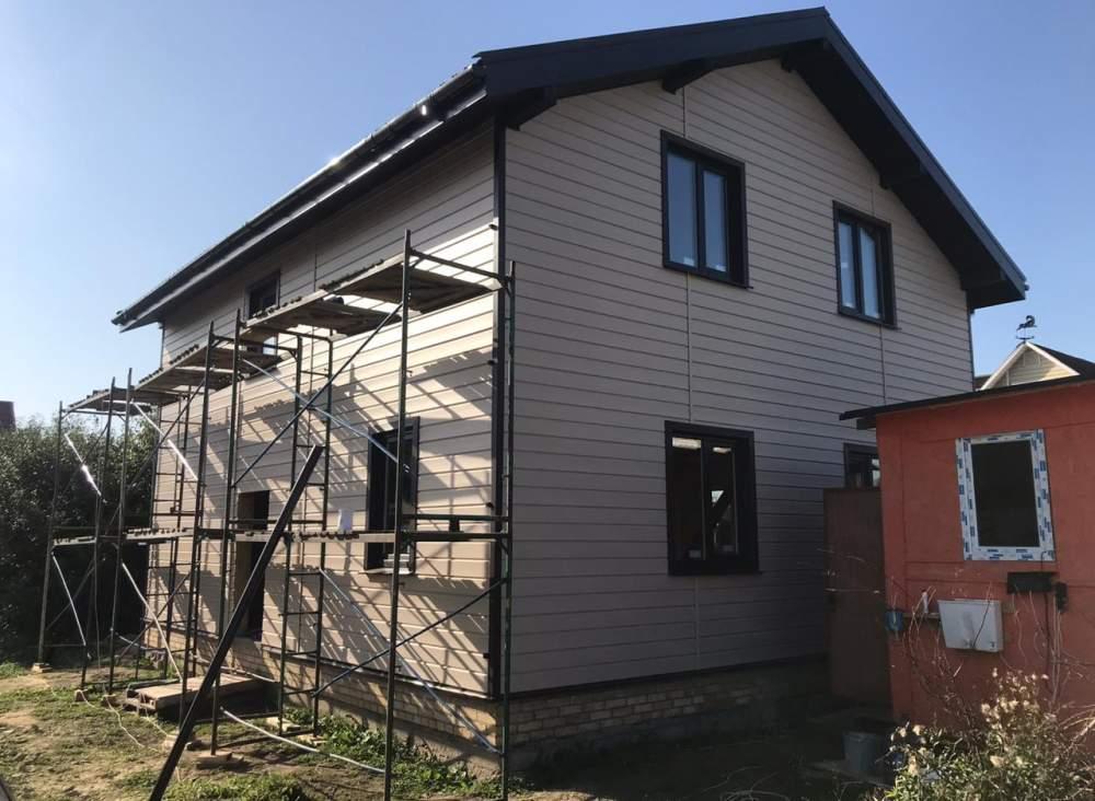 Строительство дома из СИП панелей в д. Антропшино