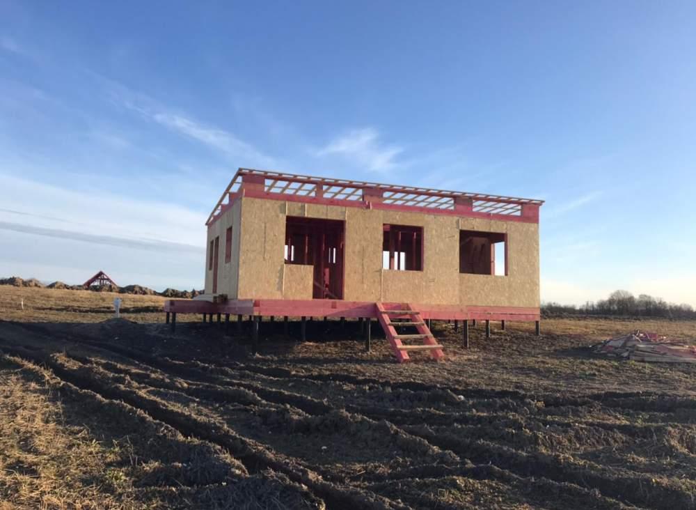 Строительство дома из СИП панелей в д. Красное Село