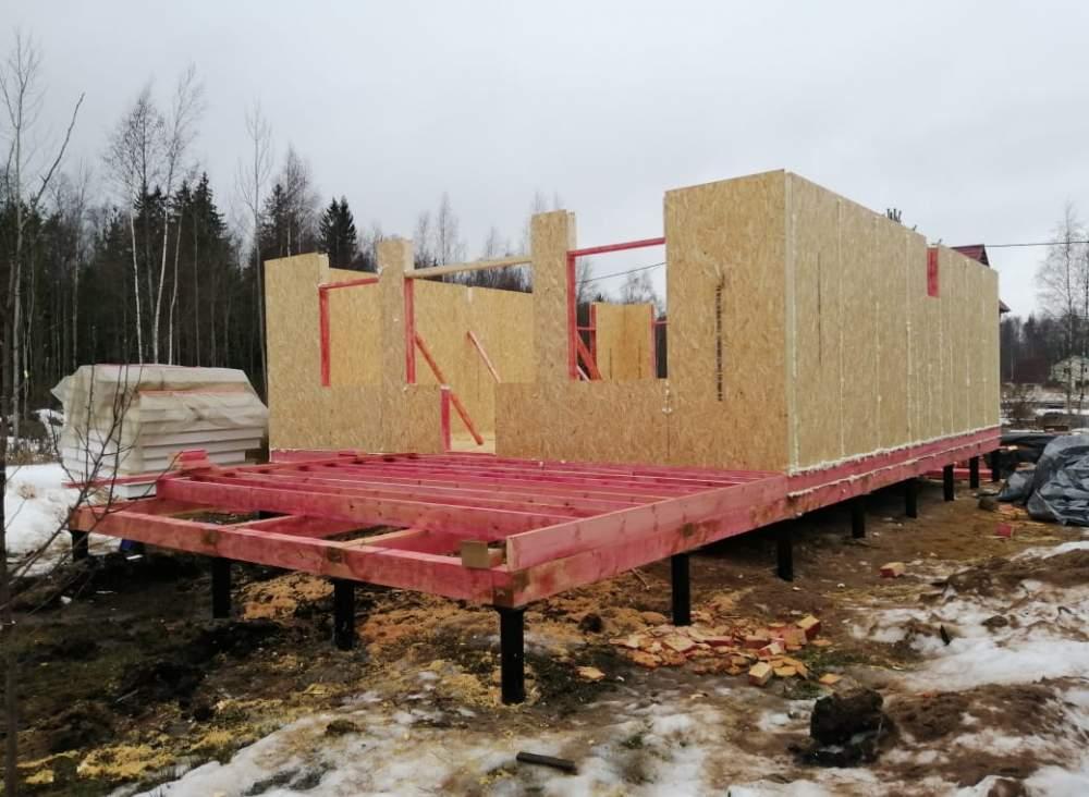 Строительство дома из СИП панелей в д. Волна