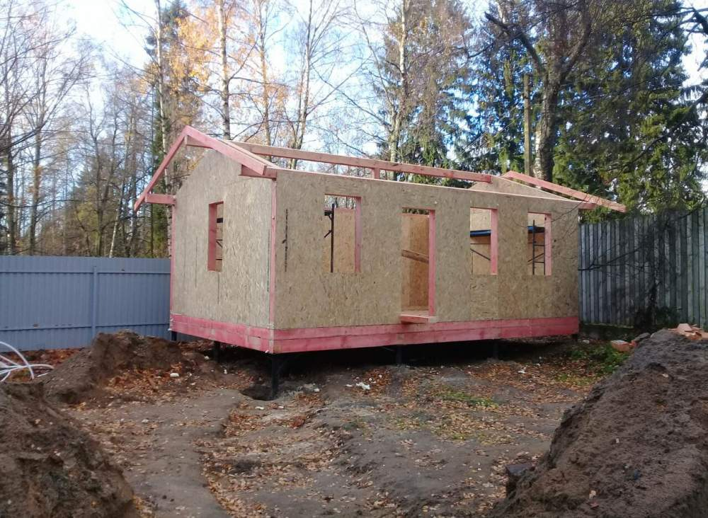 Строительство хозблок из СИП панелей в г. Зеленогорске
