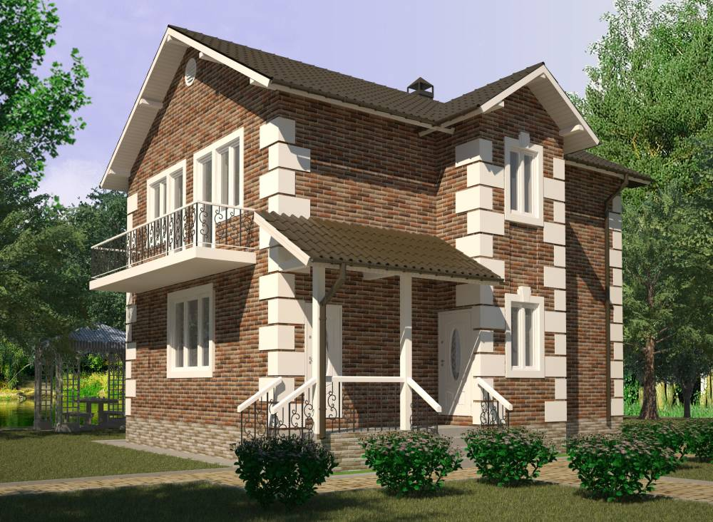 Проект дома из СИП панелей ГДОВ