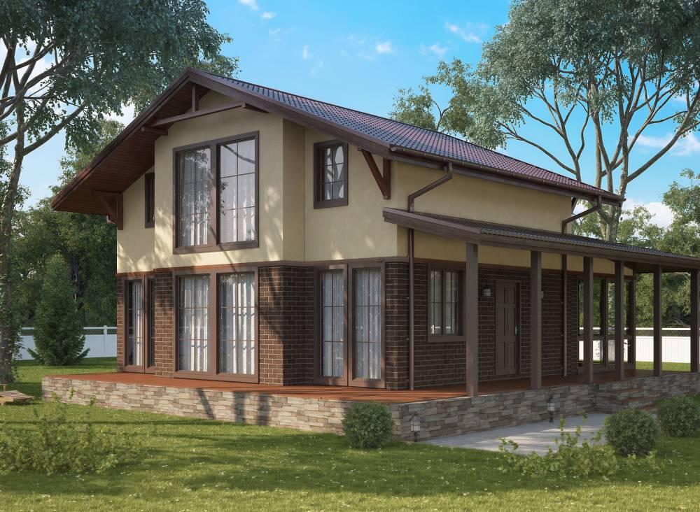 Проект дома из СИП панелей ОЗЕРКИ