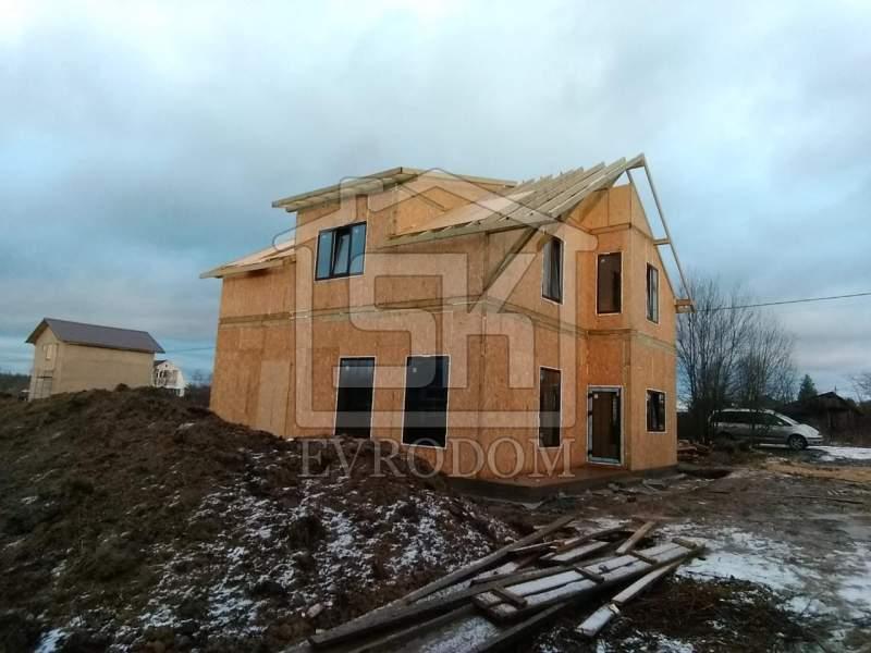 Строительство дома из СИП панелей по индивидуальному проекту в п. Малое Карлино Ленинградской области
