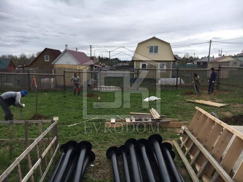 Строительство дома из СИП панелей по индивидуальному проекту в п. Ольшаники Ленинградской области
