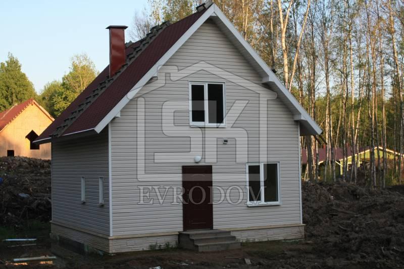 Строительство дома из СИП панелей по проекту КЛИО (Приозерский р-н)