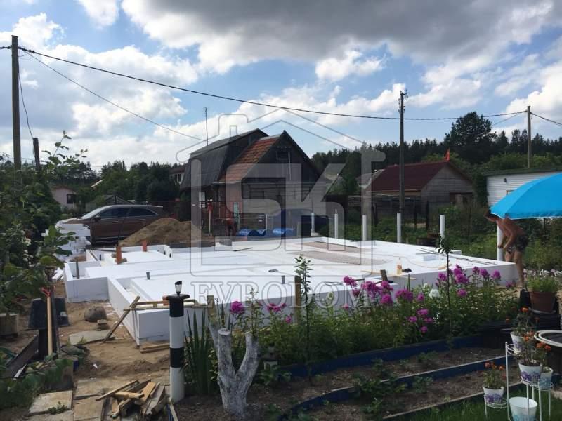 Строительство дома из СИП панелей по типовому проекту «ДЕМО», в п. Сосновый Бор Ленинградской области