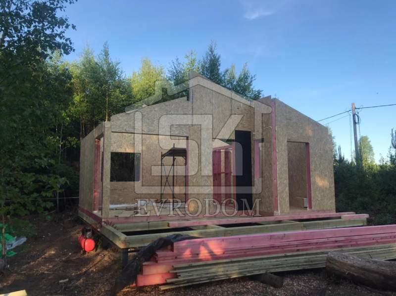 Строительство дома из СИП панелей в д. Пульман