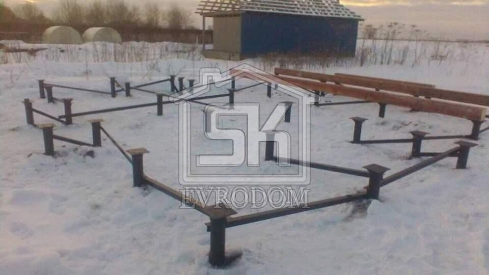 21.03.2018 г. Произведен монтаж свайно-винтового фундамента .