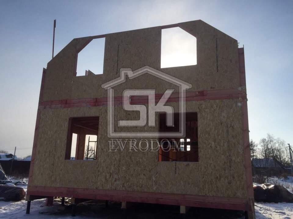 04.02.2018 г. Монтаж стен второго этажа дома из СИП панелей в д.Санино.