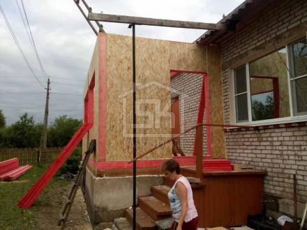 Монтаж пристройки из СИП панелей в п. Новая Ладога Ленинградской области.