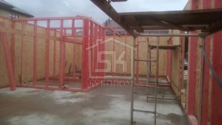 Строительство Бани из СИП панелей, по индивидуальному проекту в п. Пески Ленинградской области.