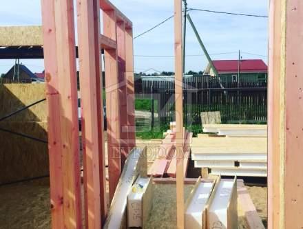 Строительство Бани из СИП панелей по индивидуальному проекту в п.Ольшаники Ленинградской области.